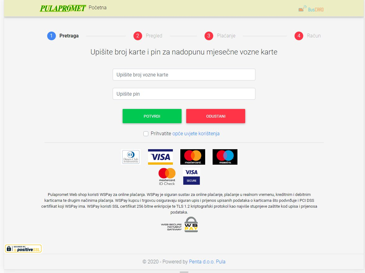 Pulapromet – extension of monthly tickets for public transport via web shop
